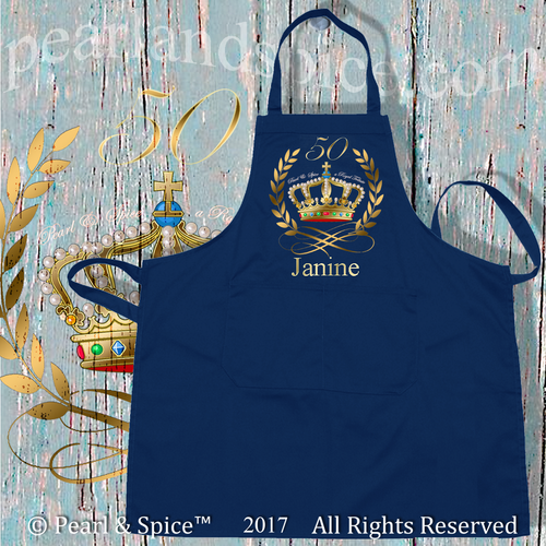 Canvas Schort Navy Blue Metallic Print