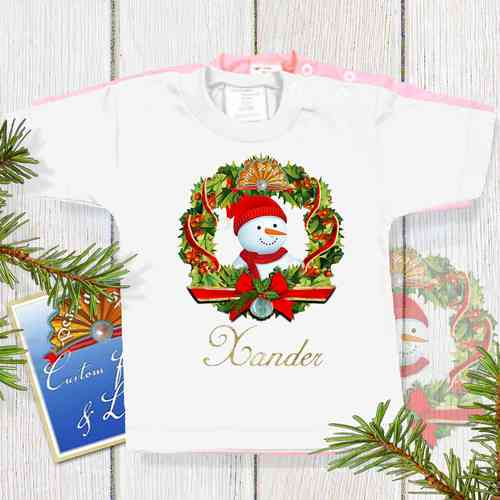 Kerst Baby Shirt Wit